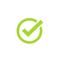 tick icon symbol green checkmark isolated vector image
