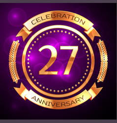 twenty seven years anniversary celebration with vector image