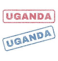 Uganda textile stamps vector