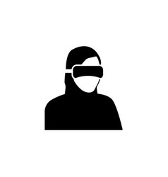 virtual reality icon special forces ninja icon vector image