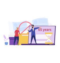 Webage discrimination concept for over 65 years vector