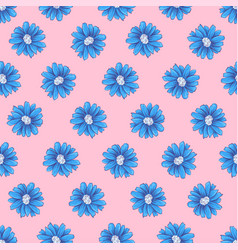 wild flowers seamless pattern hand drawing vector image
