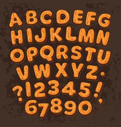year gingerbread cookies alphabet vector image