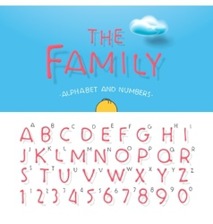 Cartoon alphabet and numbers vector image vector image