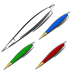 Cartoon pen eps10 vector image vector image