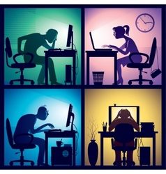 Overtime vector image