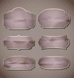 Retro Crumpled frames vector image vector image