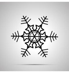 Simple black snowflake icon vector