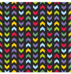 Aztec Chevron seamless dark colorful pattern vector image