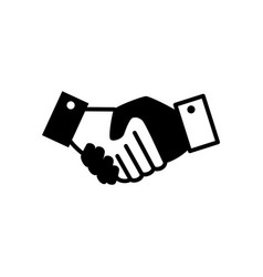 Business handshake symbol vector