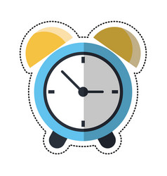 cartoon clock time alarm hour vector image vector image