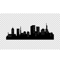 City Silhouette Black color Panorama of vector image