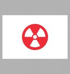 radiation sign on japan flag vector image vector image