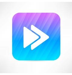rewind icon vector image vector image