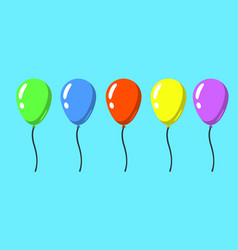 set of flat style isolated balloons for vector image