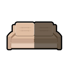 sofa furniture modern style shadow vector image vector image
