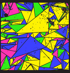 Artistic decorative geometric grunge background vector