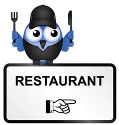 BIRD RESTAURANT SIGN vector image