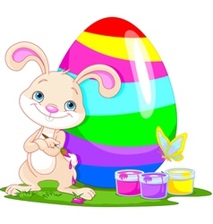 Cute Bunny and Easter Egg vector image