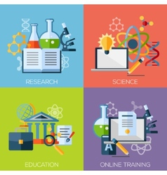 Flat design concepts for research science vector image