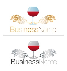 Gold and Silver Glasses of Wine vector image vector image