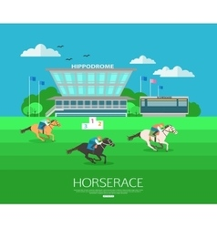 Horserace backgroung with place for text Flat vector image vector image