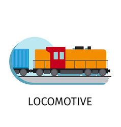 locomotive in flat style vector image vector image