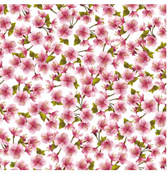 seamless background with pink sakura blossom vector image vector image