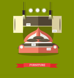 Furniture shop concept in flat vector