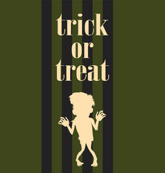 halloween night zombie undead person poster vector image vector image