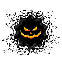 halloween sale sticker vector image vector image
