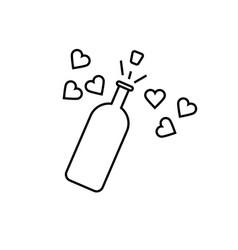 wedding champagne icon vector image