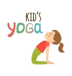 Yoga kids isolated logo design vector image
