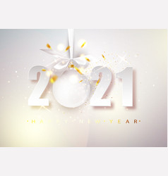 2021 happy new year bright christmas vector image