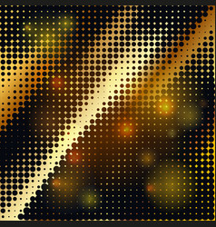 abstract geometric graphic design gold halftone vector image