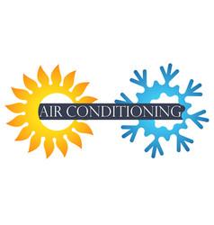 air conditioner symbol vector image