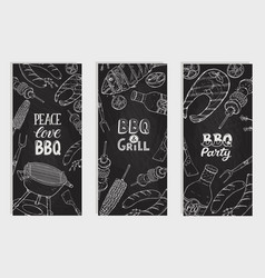 Bbq party posters vector