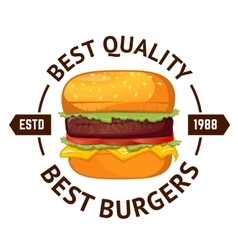 Best burgers Hamburger vector