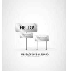 Billboard background vector