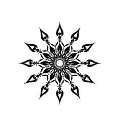 Black mandala ornament vector
