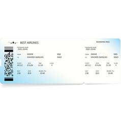 Blue boarding pass ticket travel concept vector