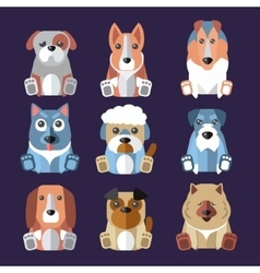 Breeds of Dogs Icons vector image