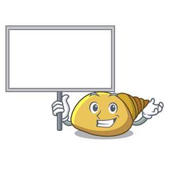 Bring board mollusk shell character cartoon vector