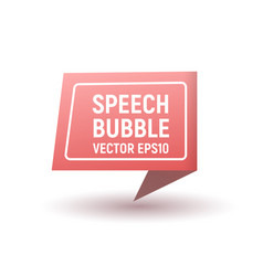bubble speech pink vector image