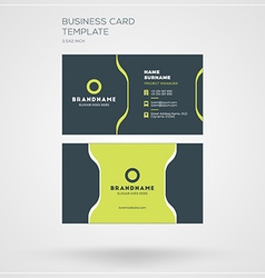 Business Card Template Personal Visiting Card with vector