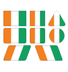Buttons with flag of Ivory Coast vector