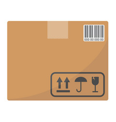 carton box flat icon logistic and delivery vector image