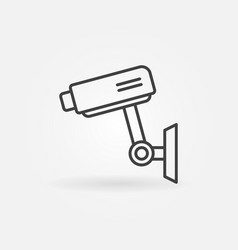 cctv icon - camera sign in thin line style vector image