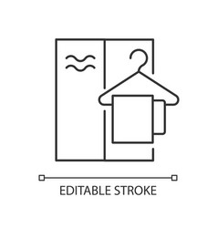 Changing cabin linear icon vector