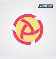 Circle flat design vector
